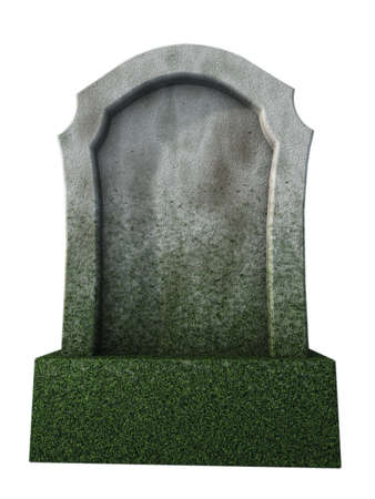 tomb: blank gravestone  - 3d illustration Stock Photo