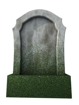 lege grafsteen - 3d illustratie