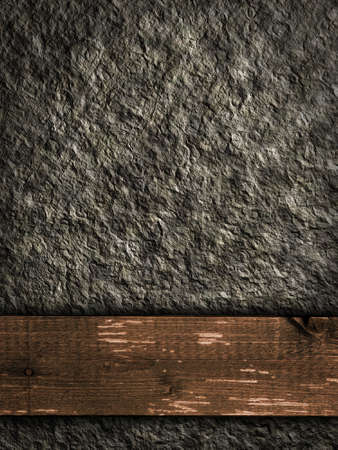 rough stone texture and wooden plank - background illustration illustration