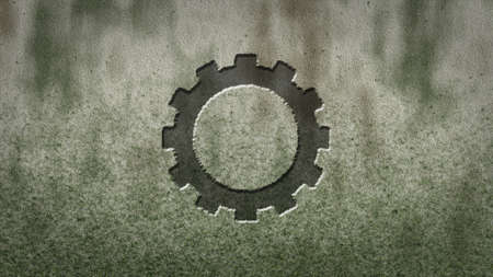 gear wheel on stone background photo