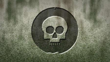 hoofd bot symbool op steen achtergrond