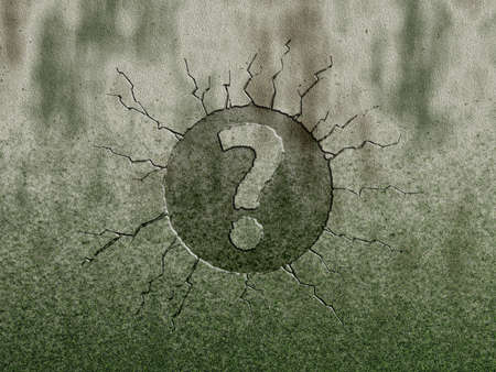 question mark on stone background Stock Photo - 11870475