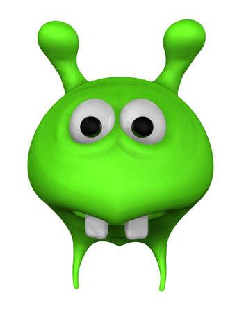 green alien - 3d illustration Stock Illustration - 11870483