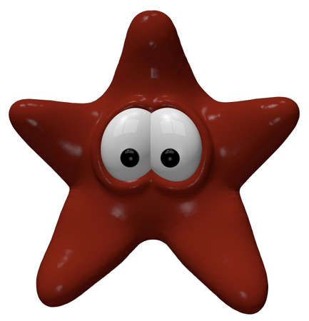 funny starfish - 3d cartoon illustration illustration