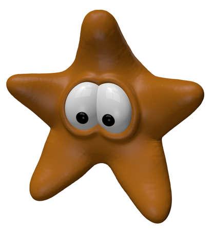 funny starfish - 3d cartoon illustration illustration