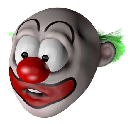cartoon clown - 3d illustration illustration