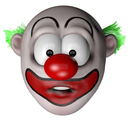 cartoon clown - 3d illustration
