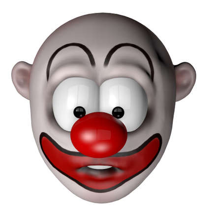 funny cartoon clown - 3d illustration Stock Illustration - 12603737