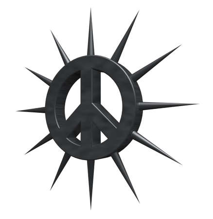 disarmament: pacific symbol with thorns - 3dillustration