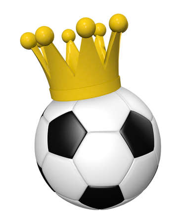 soccer ball with crown - 3d illustration illustration