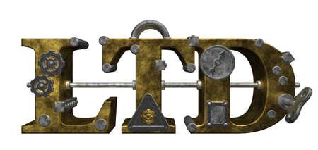 ltd in steampunk style - 3d illustration illustration