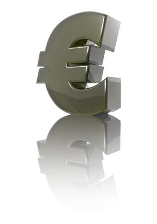 currency exchange: euro symbol on white background - 3d illustration