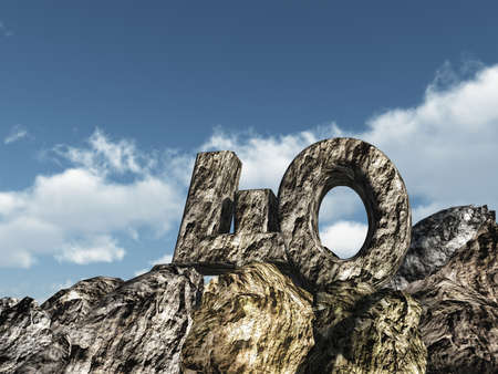 forty: number forty rock - 3d illustration Stock Photo