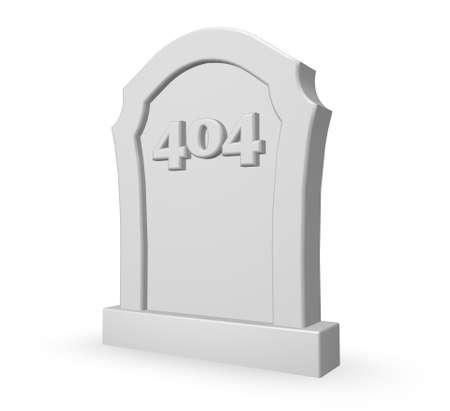gravestone with number 404 - 3d illustration illustration