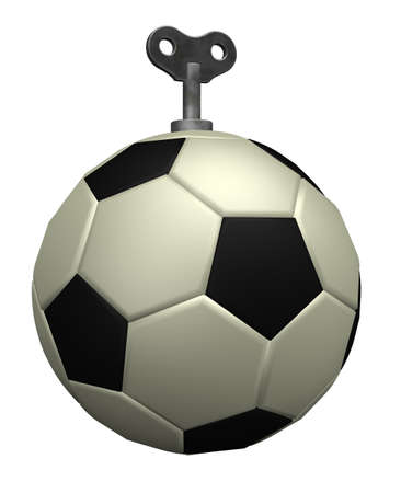 soccer ball with key - 3d illustration illustration