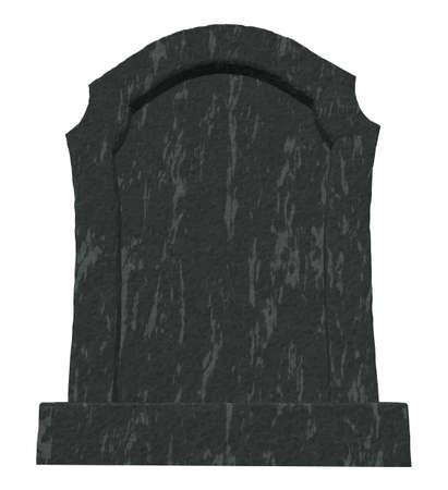 gravestone on white background - 3d illustration illustration