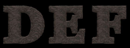 def: letters def in stone look - 3d illustration Stock Photo