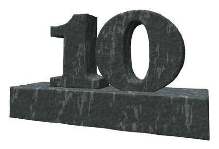numero diez: n�mero diez monumento - 3d ilustraci�n