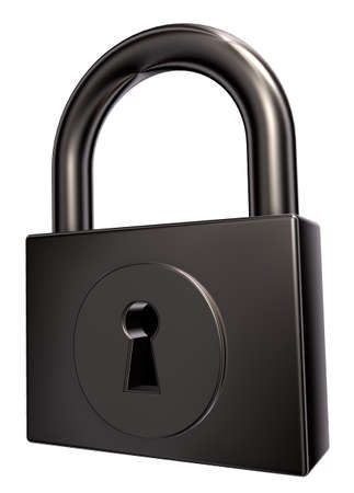 padlock on white background - 3d illustration Stock Illustration - 15327988