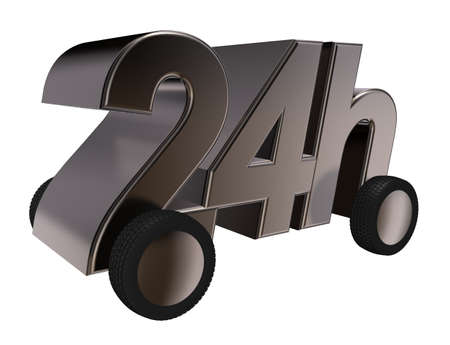24h on wheels - 3d illustration Zdjęcie Seryjne