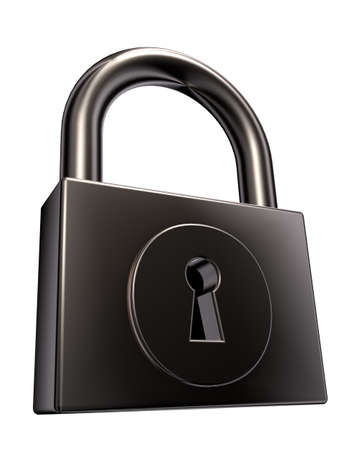 padlock on white background - 3d illustration Stock Illustration - 15399339