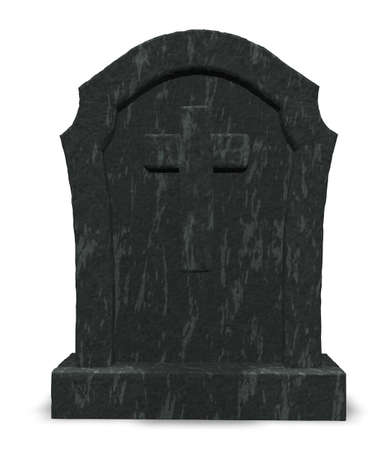 gravestone with cross symbol - 3d illustration illustration