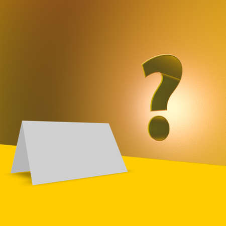 blank card and question mark Stock Photo - 16587172