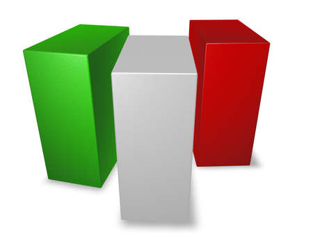 italy flag made from blocks - 3d illustration illustration