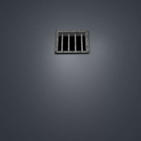riveted metal prison window - 3d illustration Stock Illustration - 16880747