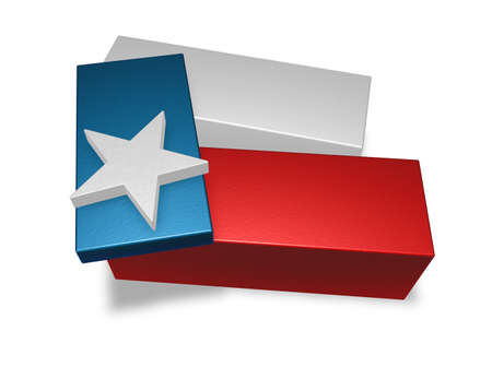pieces of texas flag - 3d illustration illustration