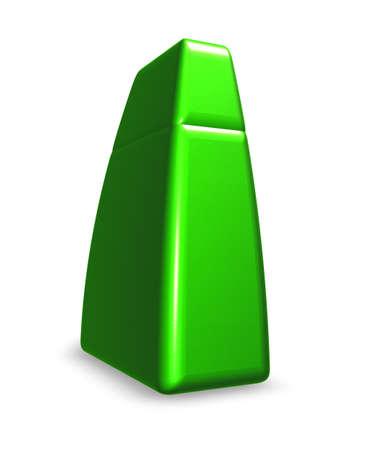 green letter i on white background - 3d illustration illustration