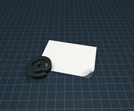 email symbol and blank paper sheet - 3d illustration illustration