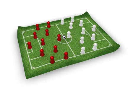 voetbal speeltuin en spelen cijfer teams - 3d illustration