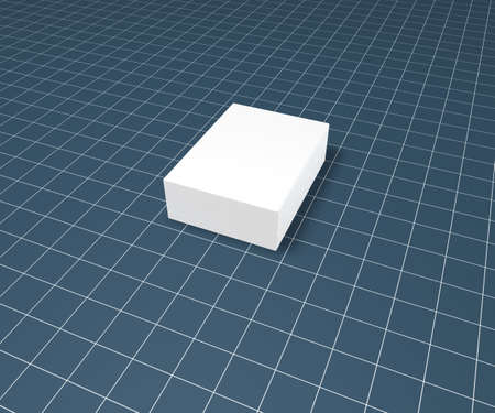 blank packing on blue squared surface - 3d illustration illustration