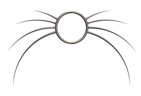 prickles: metal ring with prickles on white background - 3d illustration