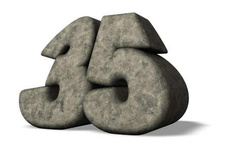 thirty five: Numero di pietra trentacinque - 3d illustrazione Archivio Fotografico