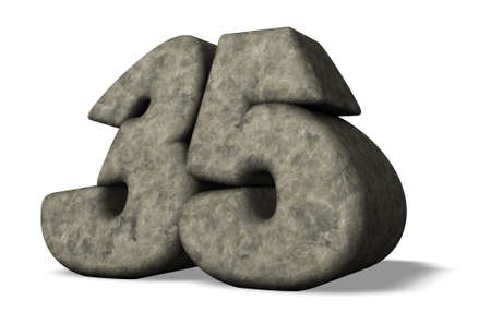 thirty five: stone number thirty five - 3d illustration Stock Photo