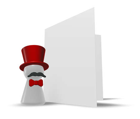 commentator: ringmaster and congratulation card - 3d illustration Stock Photo