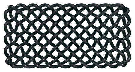 cult tradition: celtic knots on white background - 3d illustration