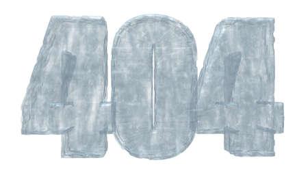 error message: ice number 404 - error message - 3d illustration