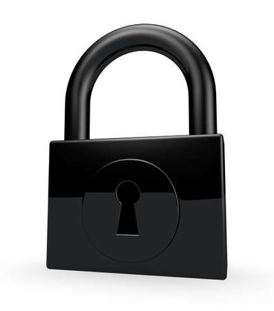 padlock on white background - 3d illustration Stock Illustration - 22271520
