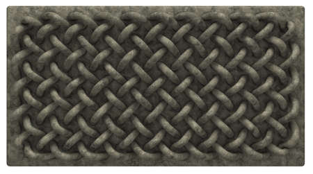 cult tradition: stone board with celtic knots ornament - 3d illustration