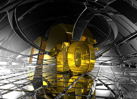 jubilation: number ten in abstract futuristic space - 3d illustration