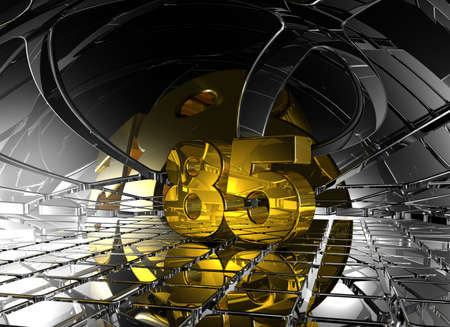 eighty: number eighty five in abstract futuristic space - 3d illustration