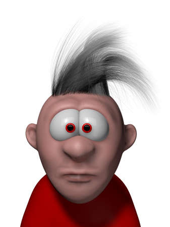 confused cartoon guy - 3d illustration