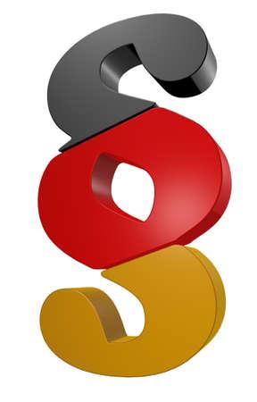 paragraph: paragraph symbol in german colors