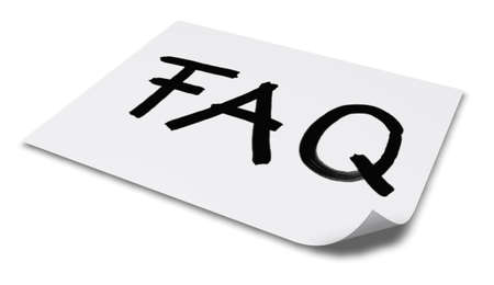 sheet of paper: the word faq on paper sheet - 3d rendering Stock Photo