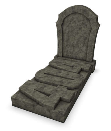 gravestone: gravestone with number 404 - 3d rendering Stock Photo