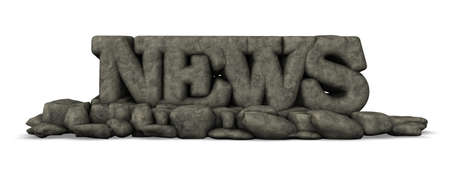 the word news in stone - 3d illustration