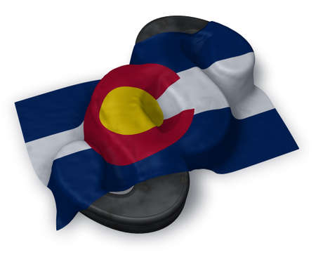 colorado flag and paragraph symbol - 3d illustration
